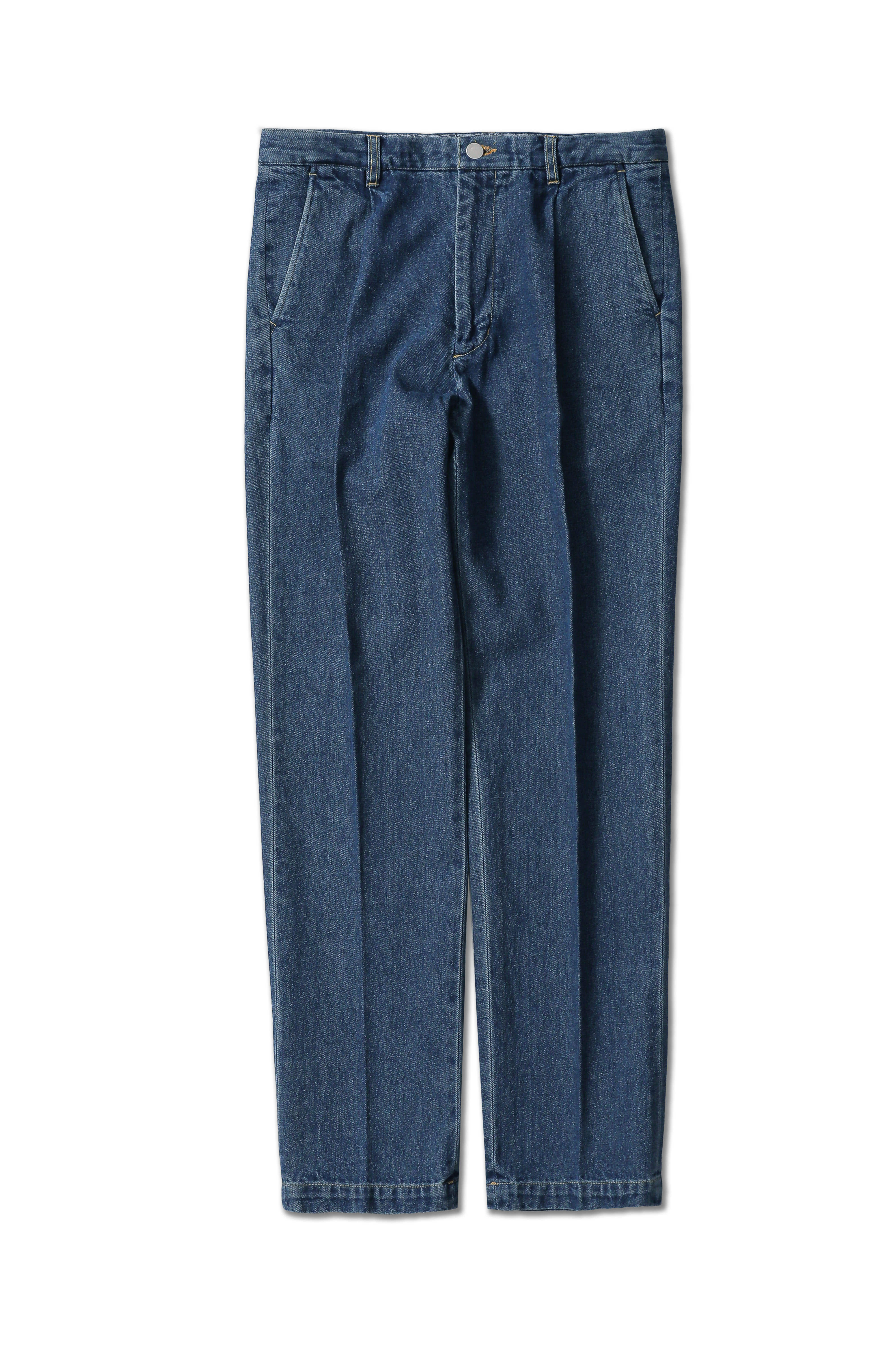 pleats jeans - Blue